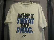 MENS WHITE NIKE SHORT SLEEVE T-SHIRT SIZE MEDIUM MINT!