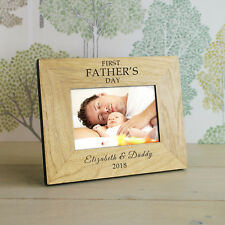 FIRST FATHERS DAY Wood Frame Personalised Gift 7x5   Cellini Gifts #1
