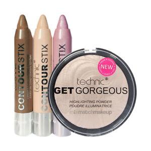 Technic Get Gorgeous Highlighting Highlighter Powder & Contour Stix Sticks Set