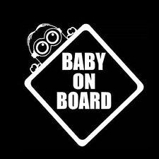 10.9 x 15.1 CM White Baby On Board  Bumper Window Van Window Laptop DECAL