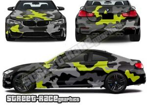 FULL Car camouflage 009 snow urban camo graphics stickers fits med/lge cars