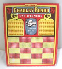 Antique 25 Cent Punch Charley Board Cigarette Gambling Trade Stimulators 9 3/4""