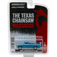 GREENLIGHT 44820 B THE TEXAS CHAINSAW MASSACRE 1971 CHEVY C-10 1/64 BLUE