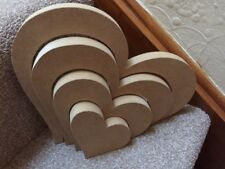 Wooden MDF 4 Part Stacking Nesting Heart (20cm wide) 18mm