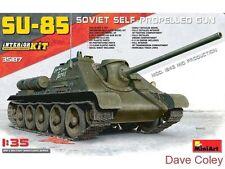 Miniart 35187 1:35th escala SU-85 Tanque Mod 1943 Mid Prod con Interior Completo