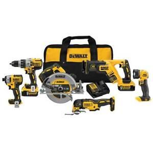 DeWALT DCK694P2 20V 6-Tool Cordless Drivers and Saws Combo Kit