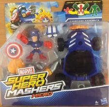 Marvel Los Vengadores Super Héroe Mashers Micro Figura & Capitán América de vehículo nuevo 4+