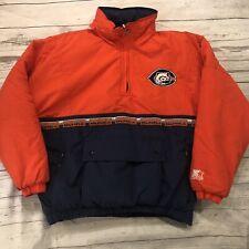 Vintage Chicago Bears Football Starter Winter Jacket Part Zipper Medium