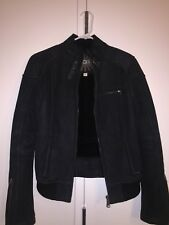 UGG Australia Black Murray Bomber Leather Shearling Jacket Size SMALL