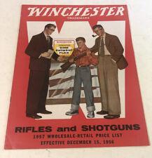 1956 Winchester rifles and shotguns catalog near mint