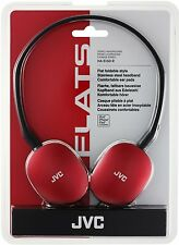 JVC Flats Foldable Style Headphones RED HA-S160-R-EF BRAND NEW FREE UK DELIVERY