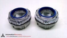 """THOMAS AND BETTS H200A - PACK OF 2 - HUB CONNECTOR, DIAMETER: 2"""",, NEW* #213783"""