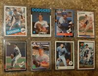 (8) Orel Hershiser 1985 Donruss Fleer Topps Rookie Card lot RC Dodgers 1986 1988