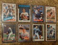 (8) Orel Hershiser 1985 Donruss Fleer Topps Rookie Card lot RC Dodgers 1986 1988