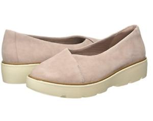 Clarks Womens Shoes UK 6.5 Eur 39  Dusty Pink Suede Un Balsa Go Loafers