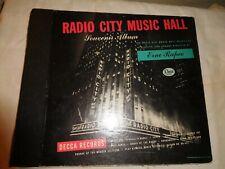 """RADIO CITY MUSIC HALL, SOUVENIR ALBUM, DECCA SET  #DA-437, 78RPM, 5 X 10"""", EX."""