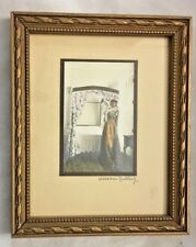 """Rectangle 4.5X5.5"""" Framed Woman 2X3 Print Signed WALLACE NUTTING"""