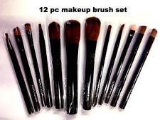 Paquete de viaje Negro wimasum 12-pc maquillaje cepillo conjunto de 5 pulgadas de largo