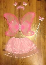 Girl Toddler Pink Butterfly Fairy Princess Cute Costume 2-3 Yr Old