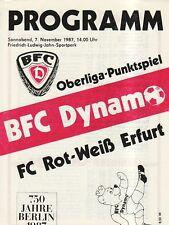 OL 87/88  BFC Dynamo Berlin - FC Rot-Weiß Erfurt