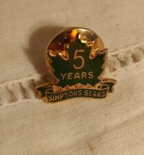 Simpson Sears Gold Fill  Canada Maple Leaf 5 year Employee Pin