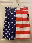 Revolution USA Patriotic American Flag Stars & Stripes Swim Trunks Shorts M A4