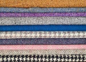 Harris Tweed Fabric Plain Herringbone Houndstooth Check and LAMPSHADE KIT SIZES