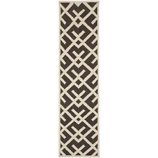 "Safavieh Brown/ Ivory Flat weave Wool 2' 6"" x 8' Runner"