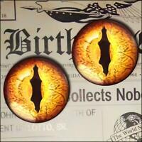 Gold Dragon Eyes Realistic Glass Taxidermy Eyeball 16mm Set