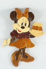 Vintage Disney Minnie Mouse Kitchen Wall Decoration Wood Intarsia Marquetry