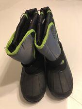 Boys Winter Boots Size 4 Black Green Kids