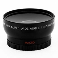 58MM 0.45x Wide Angle Macro Lens For Canon Nikon DSLR Cameras
