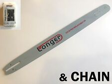 "36"" CHAINSAW BAR for STIHL 3/8 063 & FULL CHISEL SKIP TOOTH CHAIN -PRO NOSE"