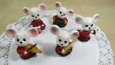 Vintage Lefton Mice Mouse Orchastra Figurines – 5 Mice Xh8097 Japan - Adorable