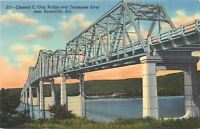 Huntsville Alabama~Clement C Clay Bridge over Tennessee River~1940 Postcard
