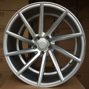 New 20 inch 5x112 CVT STYLE SILVER stance wheels for MERCEDES BMW G SERIES rims