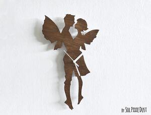 Fairy Love - Wooden Wall Clock