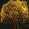 3X3M LED Lichterkette Lichternetz Lichtervorhang Garten Außenlichterkette