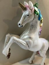 Novelty Glass Unicorn Christmas Tree Decoration Hanging Ornament Gift