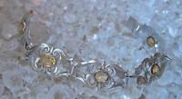 Topasarmband mit Topasen in aus 900er Silber antik Jugendstil silver bracelet