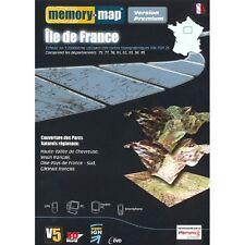 MEMORY MAP PREMIUM  ILE DE FRANCE  /   cartographie IGN  au 1/25000 ème