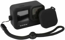 Protective Silicone Sleeve Rubber Case+Lanyard+Lens Cap for GoPro Hero 9 Black