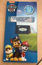 Paw Patrol, 16 Valentines with 16 Scratch-Off Stickers