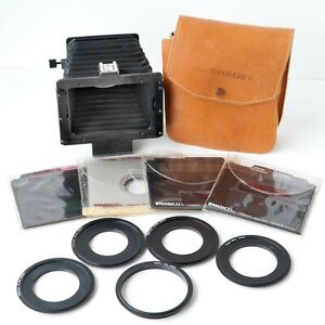 AMBICO THE SHADE+ COMPENDIUM LENS HOOD, SHADE w/ 20 MASKS, 5 ADAPTERS, POUCH