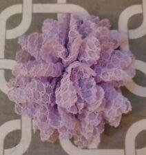 """New listing 4"""" Lilac Waffle Dog Collar Flower"""