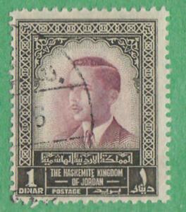 Jordan #337 used 1D King Hussein top val 1965 wmk 305 cv $20