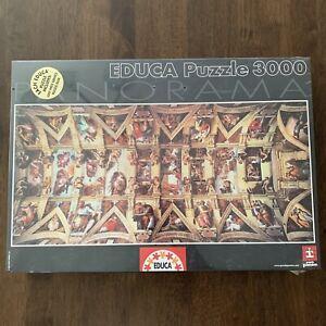 EDUCA Puzzle Passion 3000 piece Panorama Sistine Chapel 12748 144 x 68 cm
