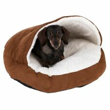 Cat Bed Hamburger Dog Style Hideaway Cuddle Snuggle Cave Warm Non-Slip Soft