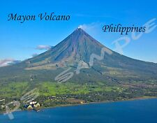 Philippines - MAYON VOLCANO - Travel Souvenir Flexible Fridge Magnet