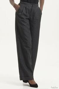 Voodoo Vixen Women Amelia Dark Pin Striped Trouser Pant 1940 1950s Vintage Retro